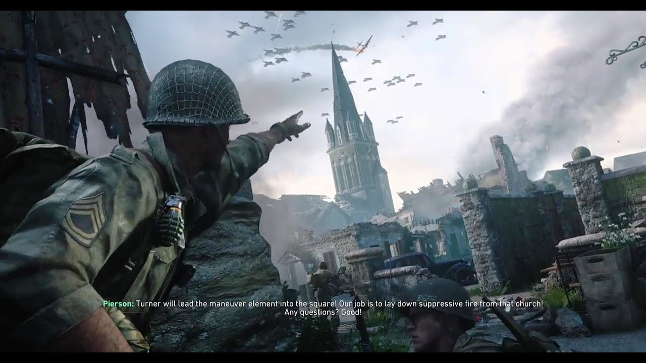 La Iglesia Y La Campana De La Muerte Call Of Duty Ww2 Campaña Cap 3 Fortaleza Youtube