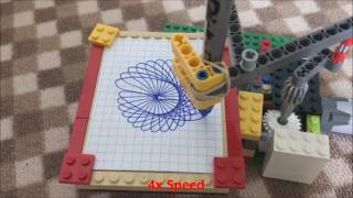 LEGO Drawing Machine with Instructions (Spirograph)