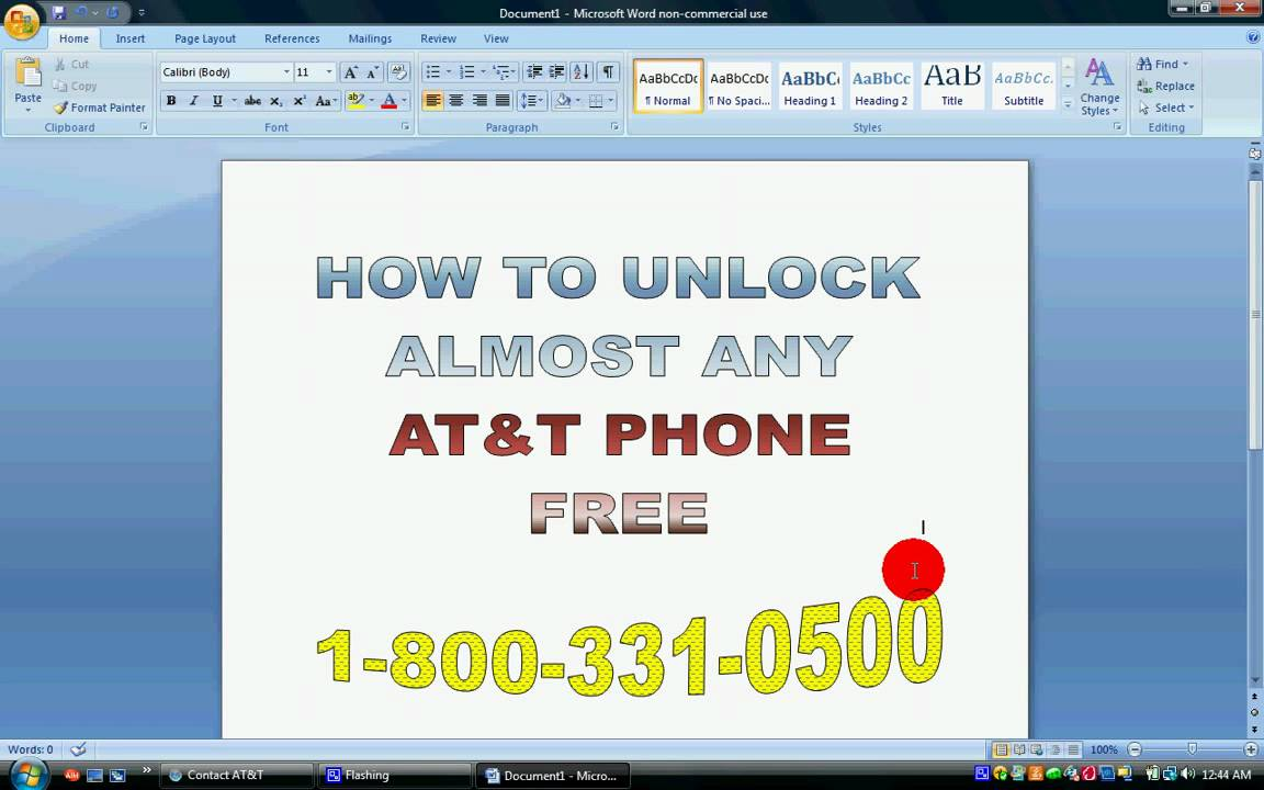 at&t device unlock page