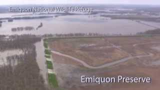 Aerial tour of Emiquon Preserve flooding