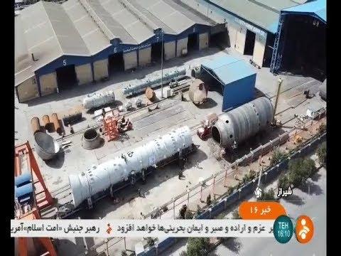 Iran FSK co. made Gas refinery Demethanizer tower manufacturer, Shiraz برج متان زدايي پالايشگاه گاز