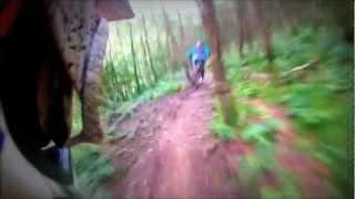 GoPro HD: Cwmcarn (Hitting The Big Stuff) , Wales Downhill - Black Run - July 2012