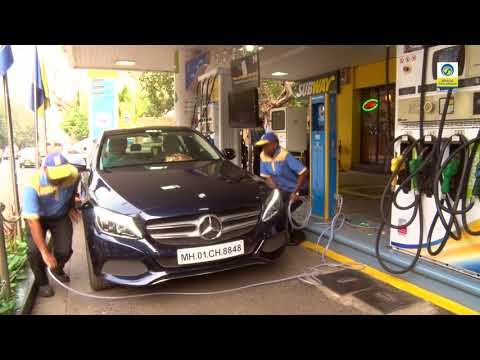 Air filling while fuelling - Quick service at Bharat Petroleum