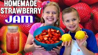 Kid Size Cooking: Easy Fresh Strawberry Freezer Jam