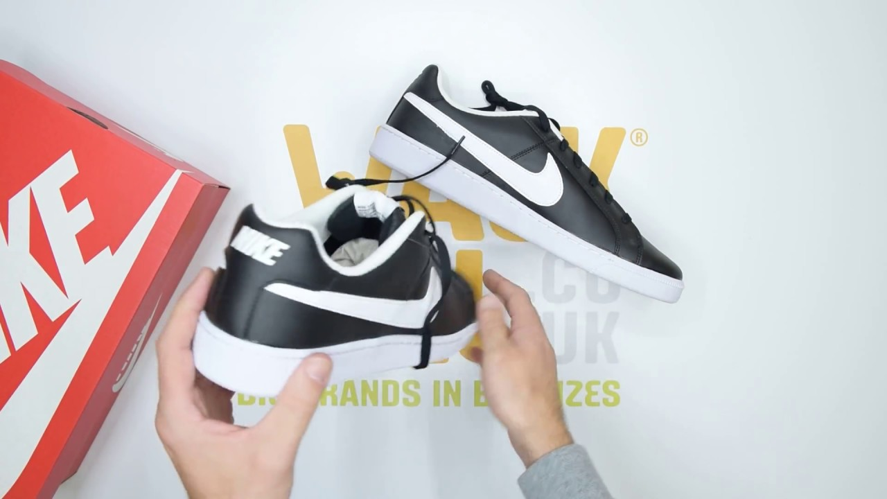 cheap for discount fc100 4ceae Nike Court Royale - Black White - Unboxing  Walktall