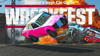 TRUMP SUCKS!! Demo Derby + Figure 8 Race   WRECKFEST: Next Car Game - Funny Moments