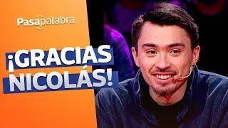 ¡Felicidades Nico Gavilán! Gracias por creer que en Pasapalabra cumplirías tus sueños