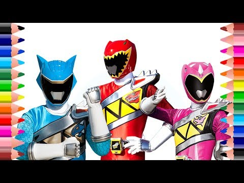 Power Rangers Dino Charge coloring pages for children | Setoys
