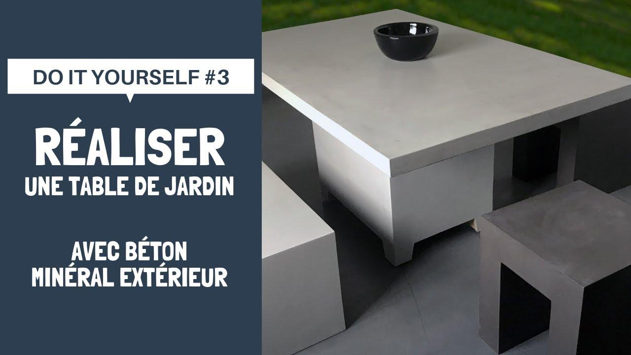 Do It Yourself #3 | Réalisez une table de jardin avec Béton Minéral  Extérieur