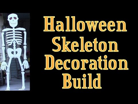 Halloween Skeleton   Lifesize Wooden Skeleton Build