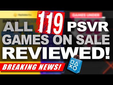 All 119 PSVR Games on Sale (NA) REVIEWED! | SALE ENDING SOON!