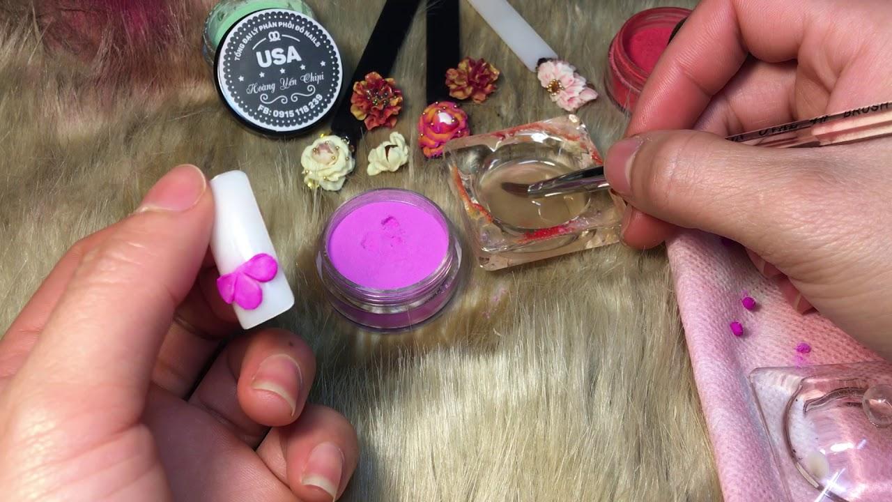 Hoa 5 cánh – hướng dẫn các kĩ thuật cơ bản khi bắt đầu với môn hoa bột ( nails )