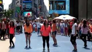 Life Vest Inside Flash MOB - Times Square - Wavin