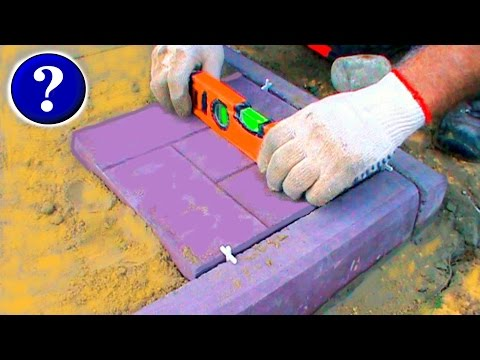 Как кладут тротуарную плитку видео