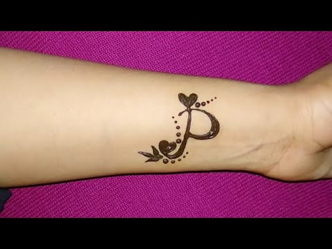 Letter P Tattoo Designs On Hand