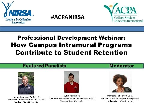 WEBINAR: How Campus Intramural Programs Contribute to Student Retention