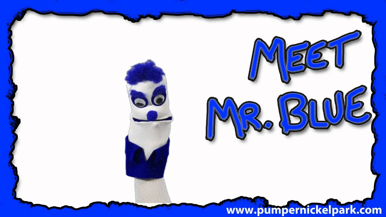 meet mr blue color kids learning colors kids educational tv shows online puppet show - Images To Color For Kids