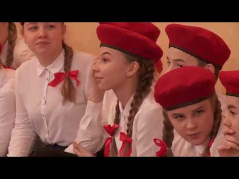 Вступление в юнармию и смотр-конкурс почетных караулов