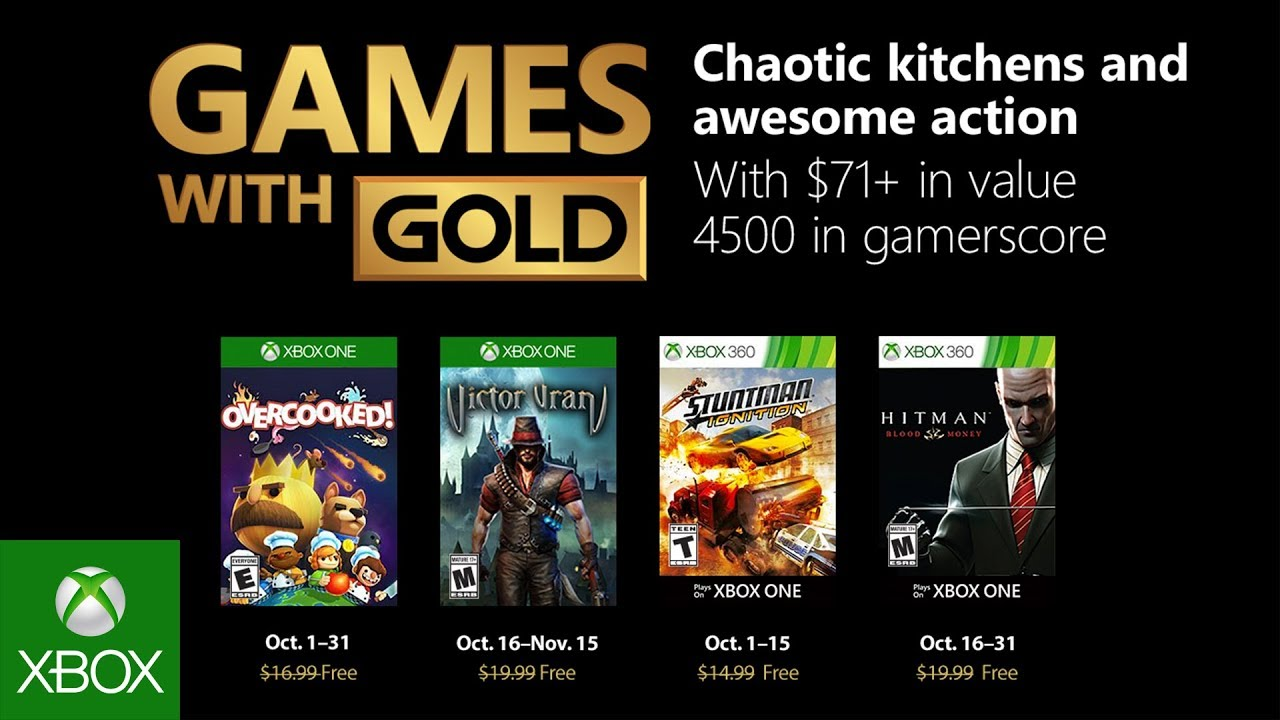 Xbox October 2018 Games With Gold Youtube