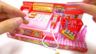 Music Pink Cashier with Stock, Light Scanner and Drawer
