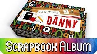 """Scrapbooking zum Schulanfang: Mini-Album """"Back to School"""" - auch für Anfänger"""