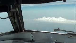 Desde la cabina piloto avión Boing
