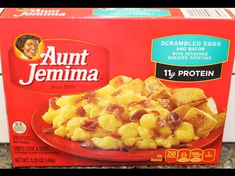Aunt Jemima: Scrambled Eggs & Bacon Frozen Meal Review