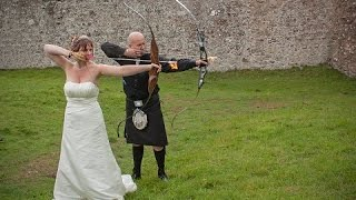 Scottish Bowhunter Wedding - Two hearts, one flame.