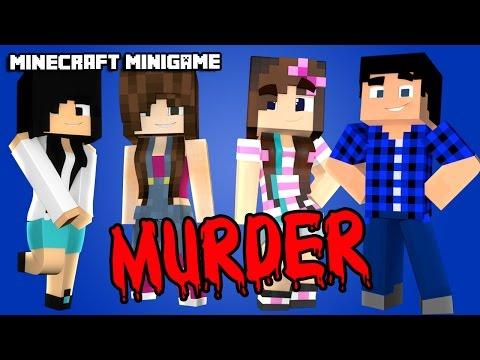 JOGANDO MURDER COM A JU E A CRIS! - Minecraft Murder (1.9)