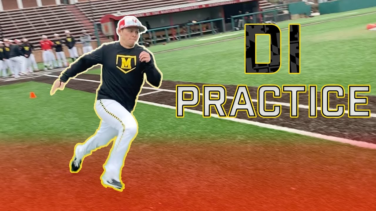 What Happens At A College Baseball Practice Inside Maryland Baseball Youtube