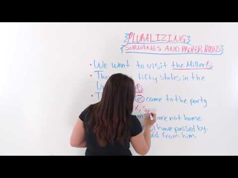 English Writing: How To Make Surnames And Proper Nouns Plural