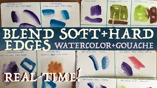 Blend Soft + Hard Edges in Watercolor or Gouache Painting!