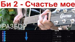 """Би 2 - Счастье мое где ты (OST """"Брат2""""). Разбор на гитаре"""