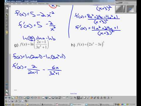 IB Math SL Calculus Review - Topic 7 (part 1 of 2)