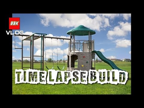 Our New Swing Set Lifetime Adventure Tower Deluxe Time Lapse Build