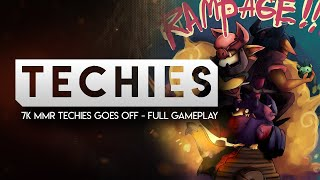 DOTA 2-- 7k MMR Techies goes off. --Full Gameplay