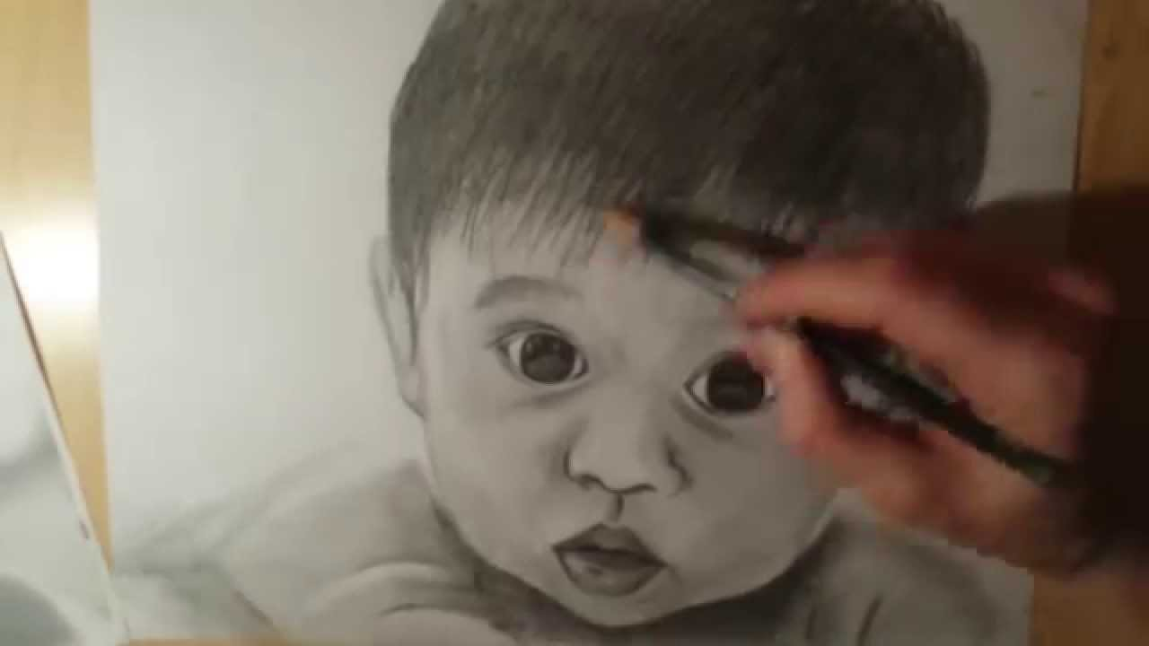 how to draw a baby with a round face