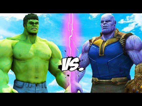 THANOS VS HULK - INFINITY BATTLE