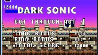 Sonic FGX Complete Savegame + Dark Sonic