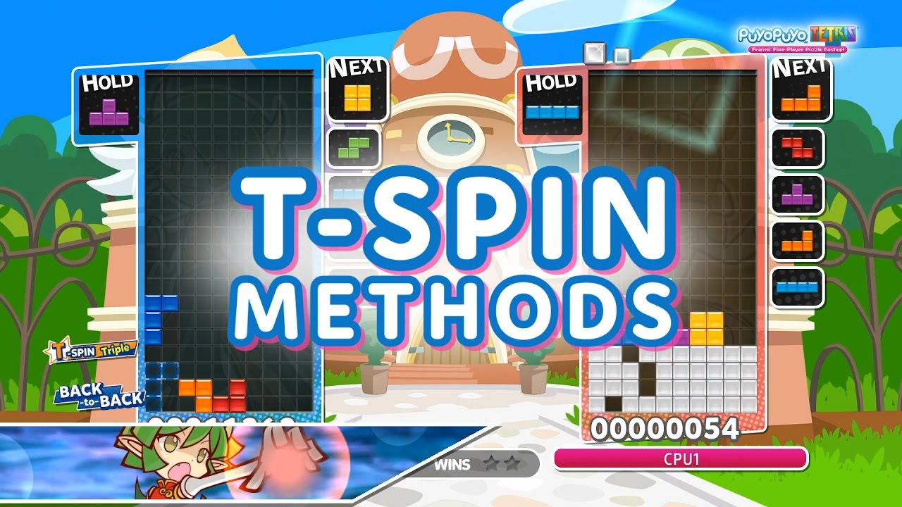 Puyo Puyo Tetris T Spin Methods Tutorial Youtube