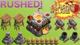 Funny Rushed TH11 Base| NEVER SEEN | COC Attacks