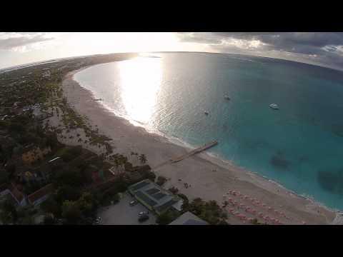 Grace Bay Beach Drone Flight Ocean Club Turks and Caicos