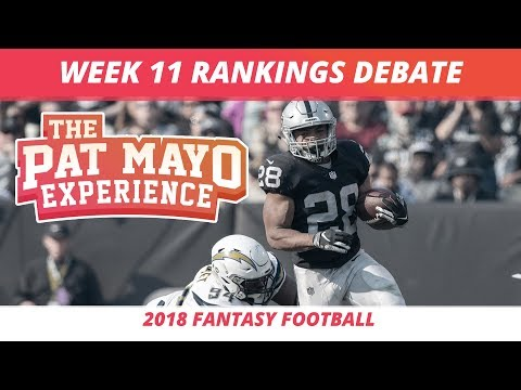 2018 Fantasy Football — Week 11 Rankings, Starts, Sits and Sleepers