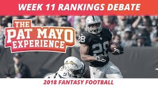 2018 Fantasy Football — Week 11 Rankings, Starts, Sits and Sleepers
