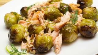 Брюссельская капуста с семгой. Рецепт запеченной брюссельской капусты с красной рыбой