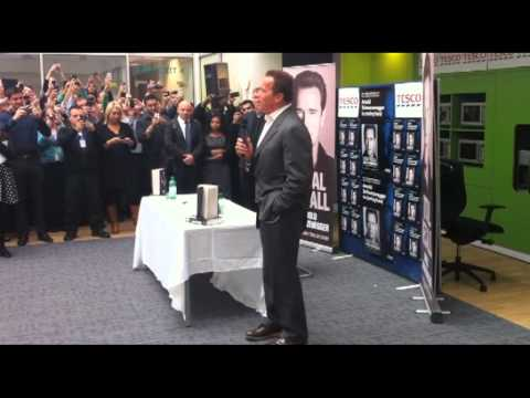 Arnold Schwarzenegger visits Welwyn Garden City