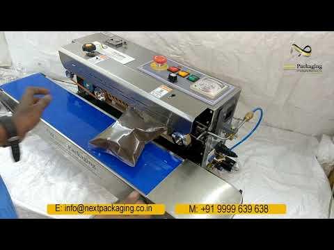 Band sealer with nitrogen flushing (Air Flushing)