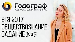 ЕГЭ по обществознанию 2017. Задание №5.