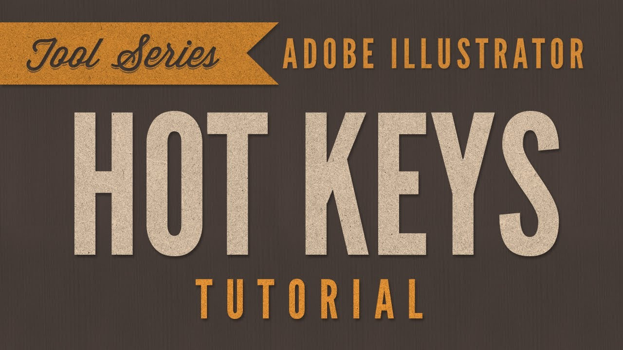 Illustrator CC Keyboard Shortcuts You Need To Learn - YouTube