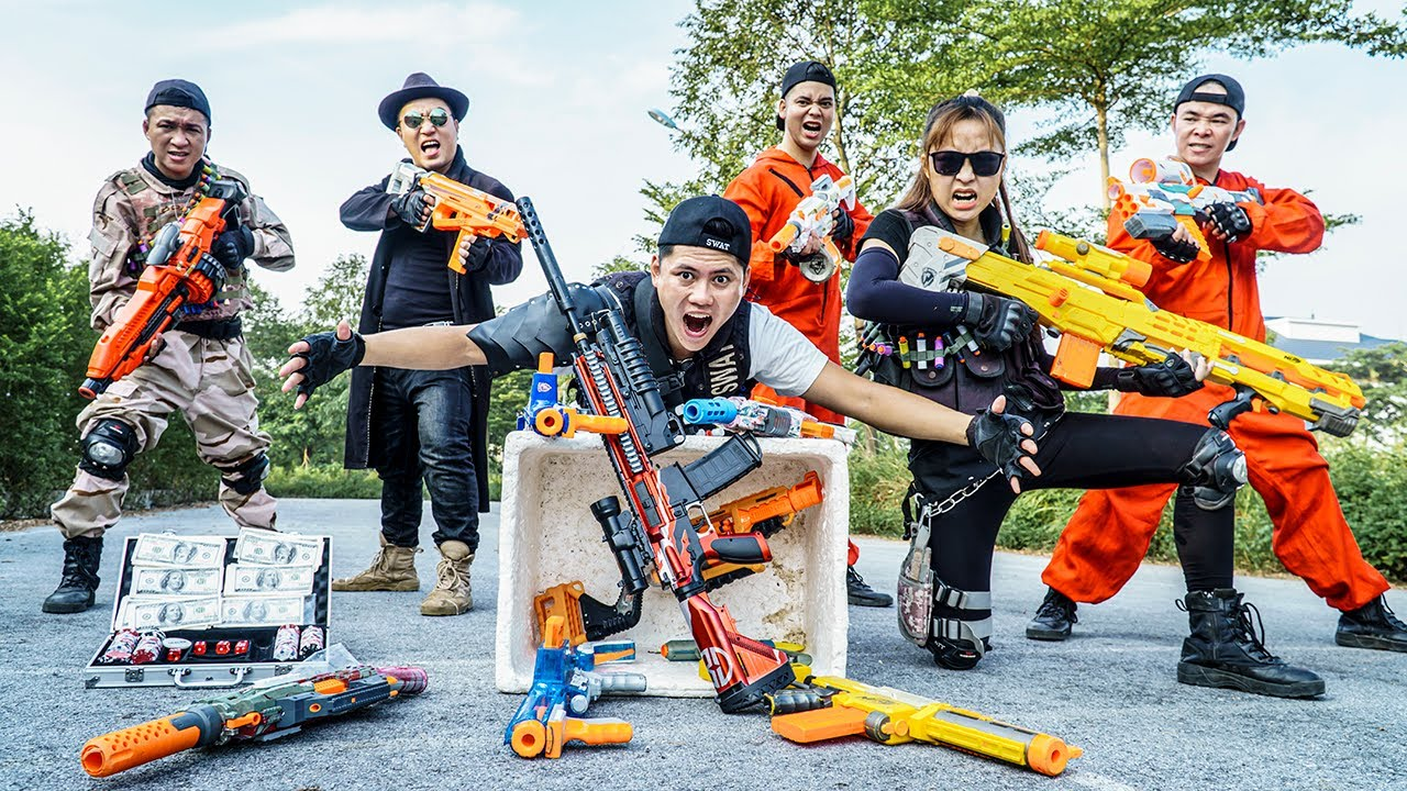 LTT Nerf War : SEAL X Warriors Nerf Guns Fight Dr.Lee Crazy Chase Down illegal Organizations